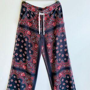 Alexander wang paisley print silk pants